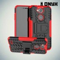 ONYX Противоударный бронированный чехол для LG X Power 3 - Красный