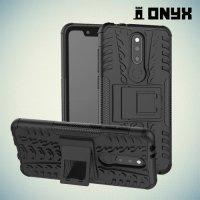 ONYX Противоударный бронированный чехол для Nokia 5.1 Plus - Черный