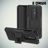 ONYX Противоударный бронированный чехол для Nokia 6.1 Plus / X6 2018 - Черный