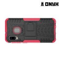 ONYX Противоударный бронированный чехол для Samsung Galaxy A20e - Розовый