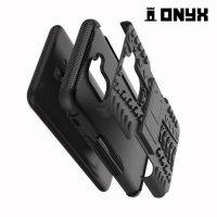 ONYX Противоударный бронированный чехол для Samsung Galaxy A6 Plus 2018 - Черный