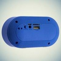 Портативная беспроводная Bluetooth колонка Wireless Speaker голубая