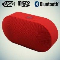 Портативная беспроводная Bluetooth колонка Wireless Speaker красная