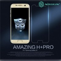 Противоударное закаленное стекло на Samsung Galaxy S7 Nillkin Amazing 9H+ Pro