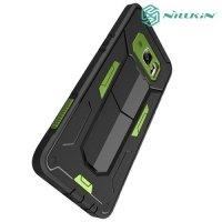 Противоударный чехол NILLKIN Defender II для Samsung Galaxy S6 edge Plus G928 - Зеленый