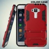 Противоударный гибридный чехол для Asus Zenfone 3 ZE552KL - Красный