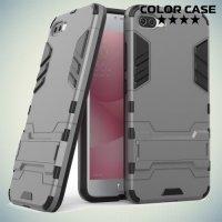 Противоударный гибридный чехол для ASUS ZenFone 4 Max ZC554KL - Серый