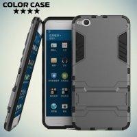 Противоударный гибридный чехол для HTC One X9 - Серый