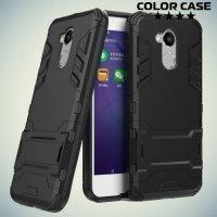 Противоударный гибридный чехол для Huawei Honor 6A - Черный