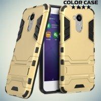 Противоударный гибридный чехол для Huawei Honor 6A - Золотой