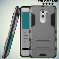 Противоударный гибридный чехол для Huawei Honor 6x - Серый