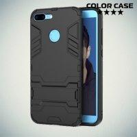 Противоударный гибридный чехол для Huawei Honor 9 Lite - Черный