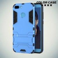 Противоударный гибридный чехол для Huawei Honor 9 Lite - Голубой