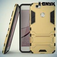 Противоударный гибридный чехол для Huawei nova - Золотой