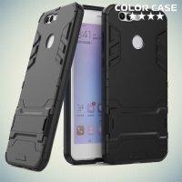 Противоударный гибридный чехол для Huawei nova 2 Plus - Черный
