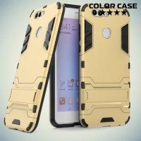 Противоударный гибридный чехол для Huawei nova 2 Plus - Золотой