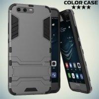 Противоударный гибридный чехол для Huawei P10 - Серый