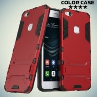 Противоударный гибридный чехол для Huawei P10 Lite - Красный