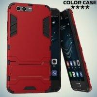 Противоударный гибридный чехол для Huawei P10 Plus - Красный