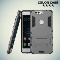 Противоударный гибридный чехол для Huawei P9 Plus - Серый