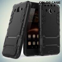 Противоударный гибридный чехол для Huawei Y3 2017 - Черный