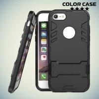 Противоударный гибридный чехол для iPhone 8/7 - Черный