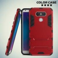 Противоударный гибридный чехол для LG G6 H870DS - Красный
