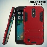 Противоударный гибридный чехол для LG K10 2017 M250 - Красный
