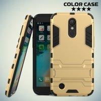 Противоударный гибридный чехол для LG K10 2017 M250 - Золотой
