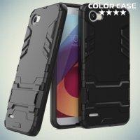 Противоударный гибридный чехол для LG Q6 M700AN / Q6a M700 - Черный