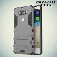 Противоударный гибридный чехол для LG V20 - Серый