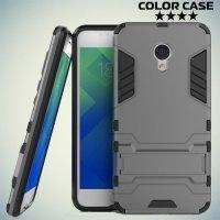 Противоударный гибридный чехол для Meizu M5 - Серый