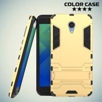 Противоударный гибридный чехол для Meizu M5 Note - Золотой