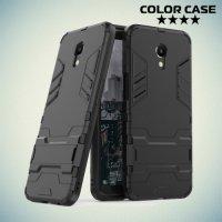 Противоударный гибридный чехол для Meizu M6s - Черный