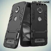 Противоударный гибридный чехол для Motorola Moto Z2 Play - Черный