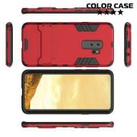 Противоударный гибридный чехол для Samsung Galaxy S9 Plus - Красный