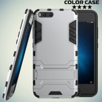 Противоударный гибридный чехол для Xiaomi Mi 6 - Серебристый