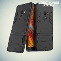 Противоударный гибридный чехол для Xiaomi Mi Mix 2 - Черный