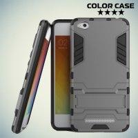 Противоударный гибридный чехол для Xiaomi Redmi 4A - Серый