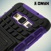 Противоударный защитный чехол для Samsung Galaxy A3 - фиолетовый