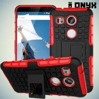 Противоударный защитный чехол для LG Nexus 5X - Красный