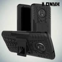 Противоударный защитный чехол для Motorola Moto G6 Plus - Черный