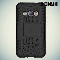 Противоударный защитный чехол для Samsung Galaxy J1 (2016) - Черный
