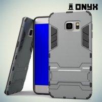 Противоударный защитный чехол для Samsung Galaxy S6 Edge Plus - Серый