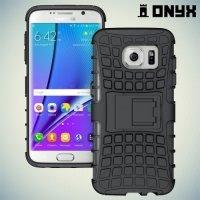 Противоударный защитный чехол для Samsung Galaxy S7 Edge - Черный