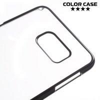 Прозрачный кейс для Samsung Galaxy S6 Edge Plus - Черный