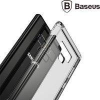 Прозрачный силиконовый чехол для Samsung Galaxy Note 9 BASEUS Air  - прозрачно-чёрный