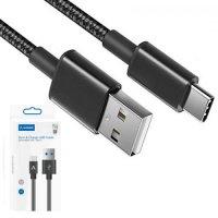 Mobilak 2А 1.5м тканевый нейлоновый кабель USB Type-C для быстрой зарядки