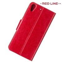 Red Line чехол книжка для HTC Desire 728, 728G Dual SIM  - Красный