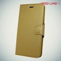 Red Line чехол книжка для Huawei Honor 6C Pro - Золотой